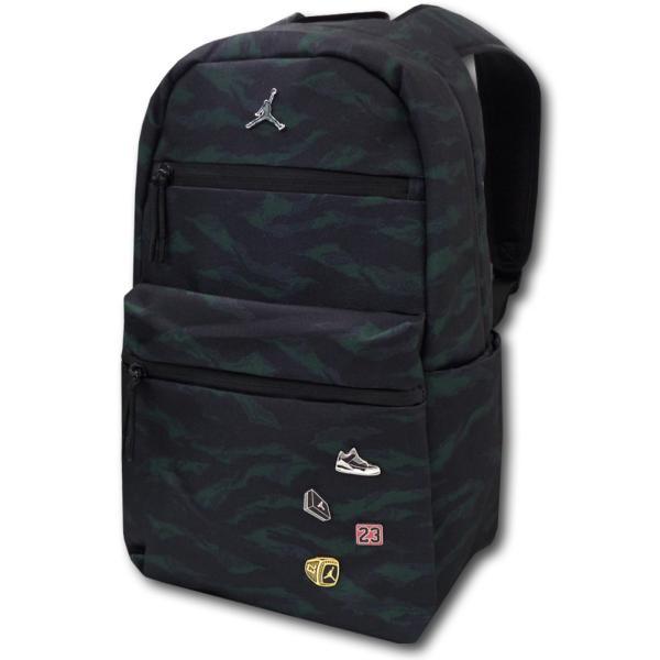 b7e5d458a95b JB986 Jordan Pin Backpack ジョーダン リュックサック 黒モスグリーンの画像