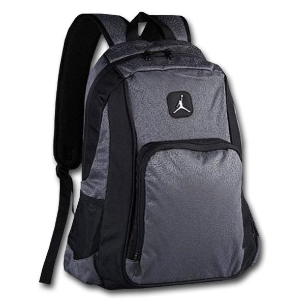 b147d0ccf45e JB998 Jordan Elephant Backpack ジョーダン リュックサック ダークグレー黒の画像