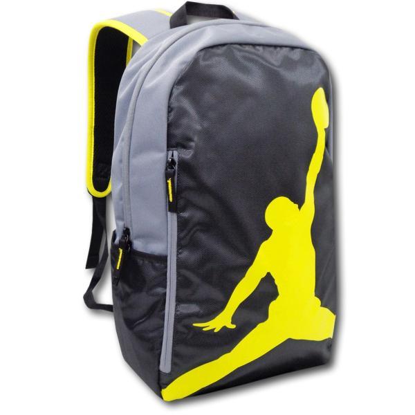 2e1076faa020 JB999 Jordan Jumpman Backpack ジョーダン リュックサック 黒ダークグレー黄色の画像