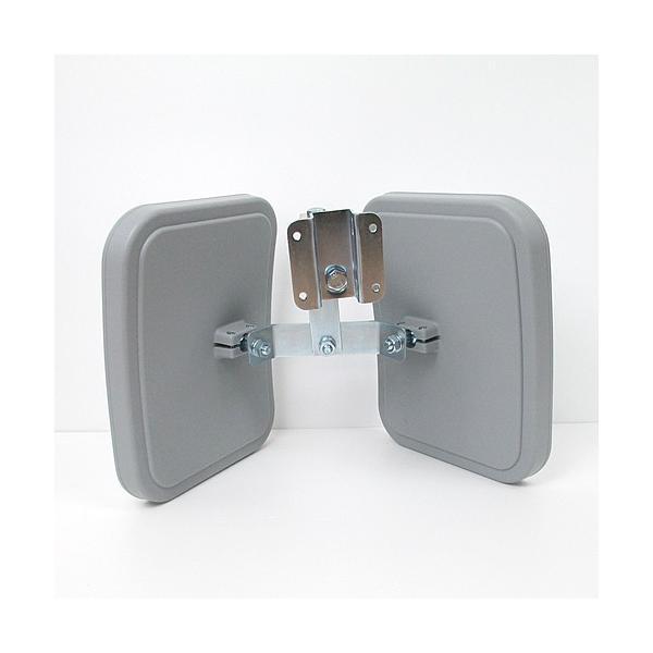 ガレージミラー 2面鏡タイプ:角型23cm×19cm 2個 HP-角20ツイン グレー色 日本製カーブミラー|hop4132|04