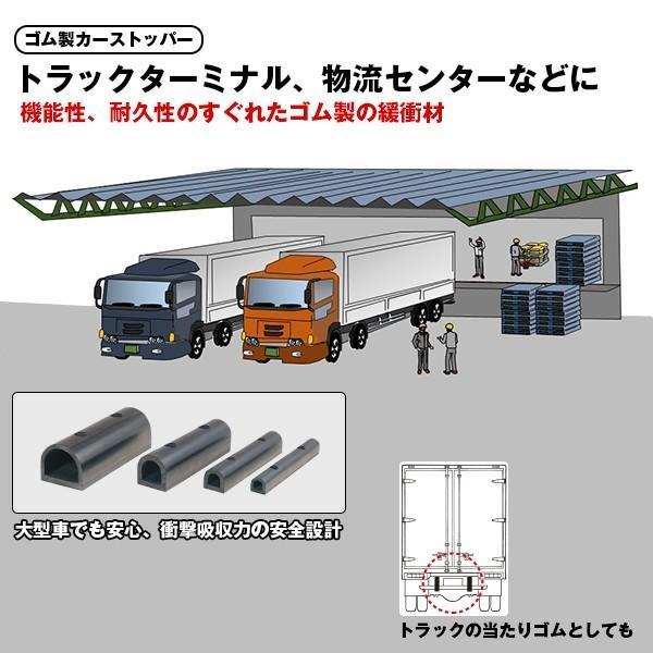 D型ゴム/かまぼこ型カーストッパー・ターミナルラバー 穴なし金具なし  TRN10-4 日本製|hop4132|06