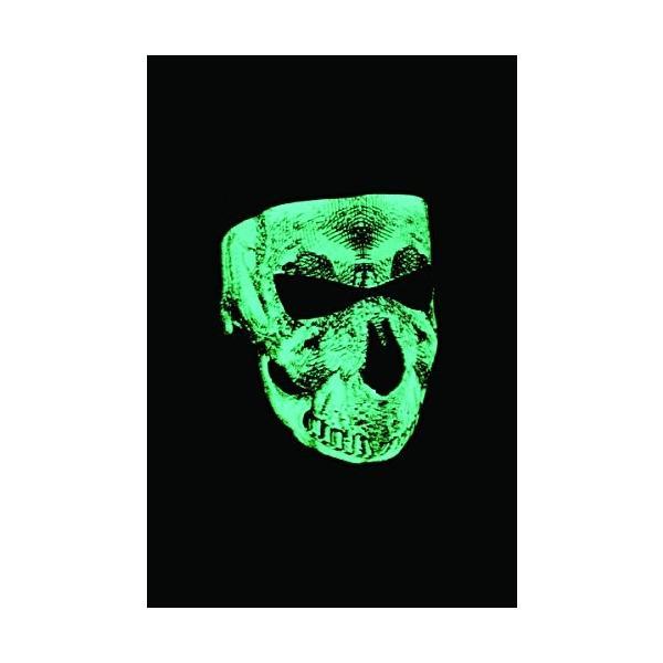 Zan Headgear WNFM002G 日本最大級の品揃え Neoprene Face Mask Glow ついに再販開始 Blk in the Dark and White