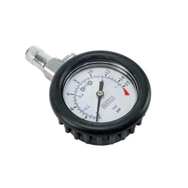 VIAIR 90058 Tire Gauge with Rubber 今だけ限定15%OFFクーポン発行中 Boot Inch PSI 15 超人気 2 Face
