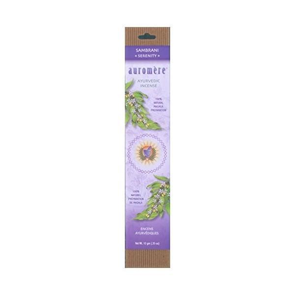 送料0円 Auromere 5%OFF Ayurvedic Incense Sambrani Serenity