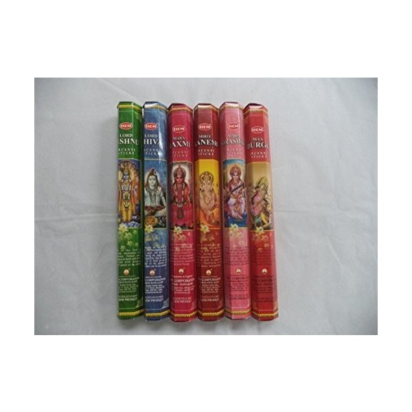 Hem Indian God Series Incense ☆新作入荷☆新品 Sticks Variety Combo 120 6 チープ Total = #1 20 x