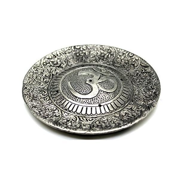 Govinda - Tibetan 日本産 Incense Burner OM 再再販 Symbol Larger Diameter 11cm