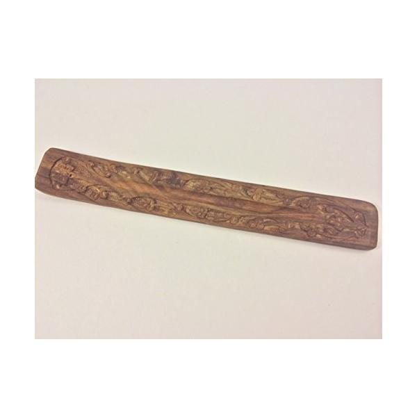 Handmade Boat Wooden Carved ふるさと割 Incense Sticks L 25cm Catcher Ash Burner 高価値 Holder
