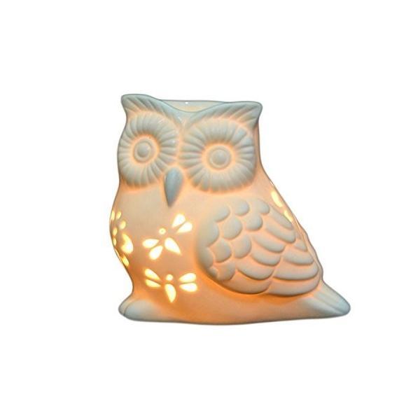 激安通販販売 Owl Shape - Ivenf Ceramic 好評受付中 Tea Melt Holder Warmer, Wax Light