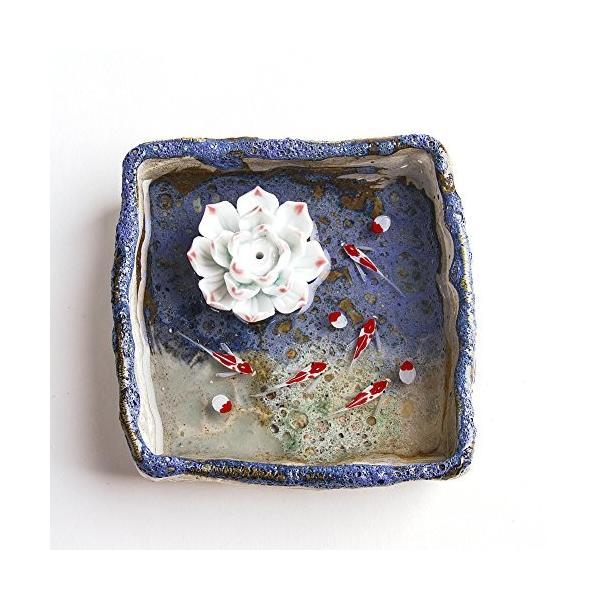 お香立て お香たて 香の器 春の新作続々 ランキングTOP5 香皿,陶磁器 お香を焚いて ブルー