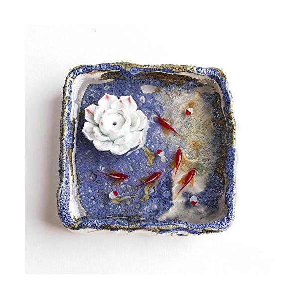 贈答品 お香立て お香たて 香の器 ブルー お香を焚いて 新作販売 香皿,陶磁器