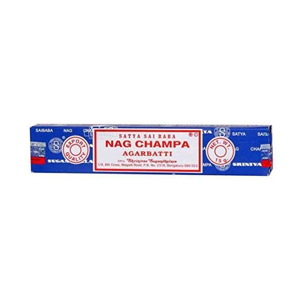Satya 100%品質保証! Sai Baba 贈物 Champa Incenseの小さなボックスでの15グラム Nag