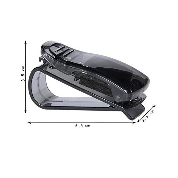 Gotor クリップ式 車内 いよいよ人気ブランド サングラスホルダー ブラック 眼鏡 車載 高級品 メガネクリップ