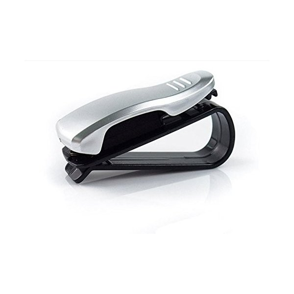 Gotor クリップ式 開店記念セール 車内 サングラスホルダー シルバー 車載 眼鏡 記念日 メガネクリップ