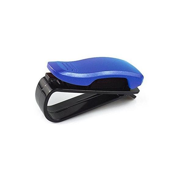 Gotor クリップ式 車内 訳あり商品 サングラスホルダー ブルー メガネクリップ 公式ストア 眼鏡 車載