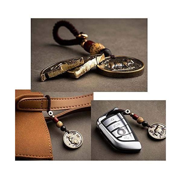 中国の黄道帯のキーホルダーバッグペンダント車のキーチェーンアクセサリー1個 使い勝手の良い ドラゴン 物品
