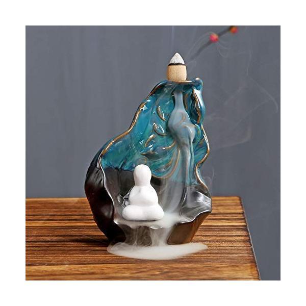 PHILOGOD 35%OFF 陶器逆流香炉 リトルモンククリエイティブスタイリング 香立て ホルダー ホームデコレーション お買い得 お香