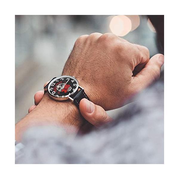 腕時計 メンズ レディース Stone Cold Steve Austin Hell Yeah 生活防水 ビジネス 超薄型 軽量 男性女性用|hope-flowers