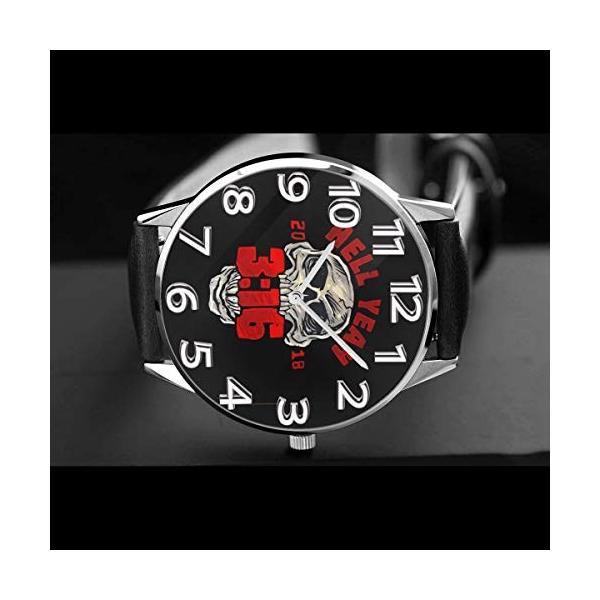 腕時計 メンズ レディース Stone Cold Steve Austin Hell Yeah 生活防水 ビジネス 超薄型 軽量 男性女性用|hope-flowers|04