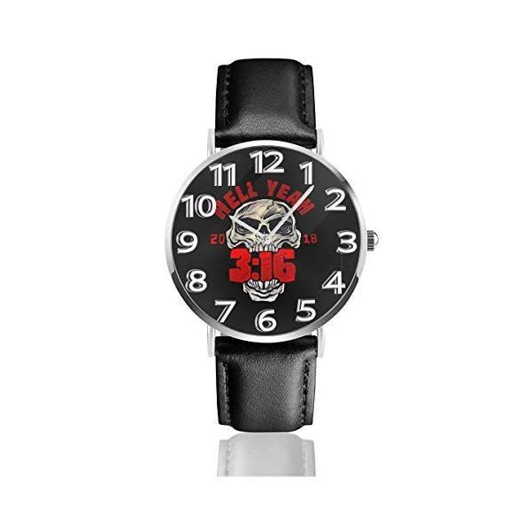 腕時計 メンズ レディース Stone Cold Steve Austin Hell Yeah 生活防水 ビジネス 超薄型 軽量 男性女性用|hope-flowers|06