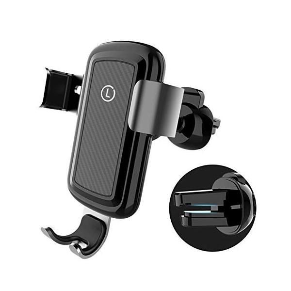 車の電話ホルダー 通気孔携帯電話の台紙 信用 チー高速ワイヤレス充電携帯電話スタンド 重力ロック 360°調節可能 10W,Gold オープニング 大放出セール