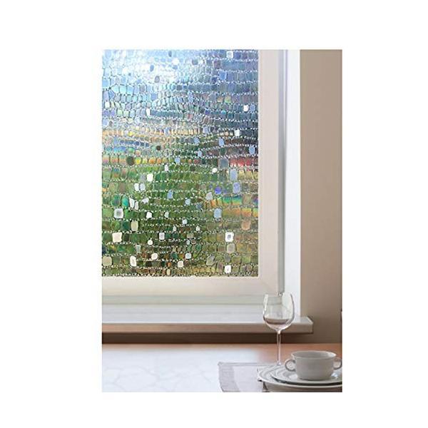 DEWUFAFA ガラスプライバシーフィルム用非粘着窓用フィルム装飾用90cm x ホームキッチンオフィス用3Dペブルパターン 贈物 500CM Seasonal Wrap入荷