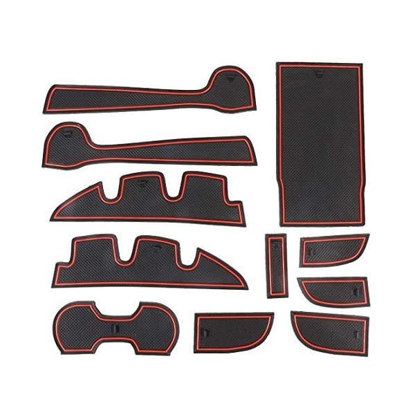 車のウォーターカップゲートスロットマットトヨタカムリ2012-2016年のプラスチック赤滑り止めインテリアドアパッド バーゲンセール ハイクオリティ アウトレットセール 特集
