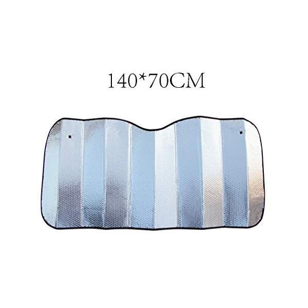 国産品 CSQ-カー冷却 車のフロントガラス高品質アルミ箔サクションカップサンバイザー日焼け止め断熱カーテンサイズ140 紫外線の隔離 70センチ 70%OFFアウトレット
