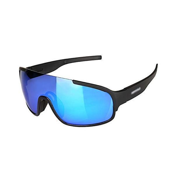 人気 おすすめ Wazenku 乗馬メガネオートバイゴーグル4レンズキットと偏光サングラス 色 2020 新作 黒 :