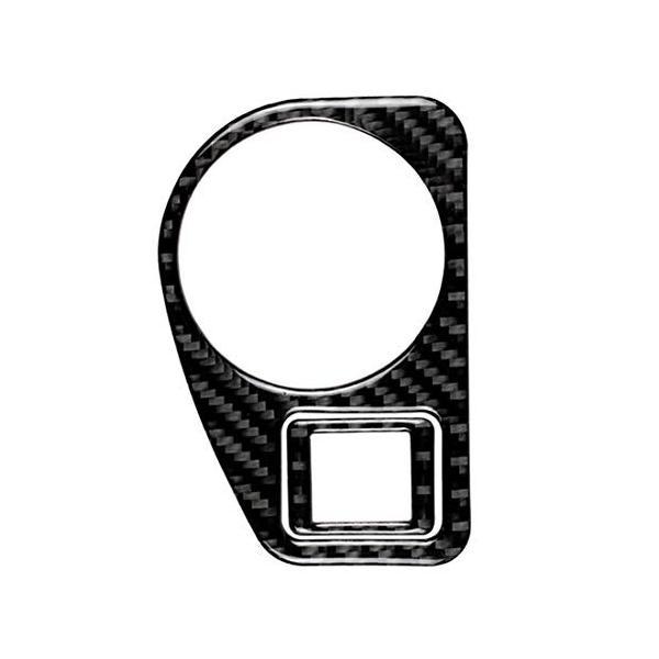 結婚祝い 交換無料 フォルクスワーゲンゴルフ7 2013-2017のために車カーボンファイバーヘッドライトスイッチパネル装飾的なステッカー ハイクオリティ