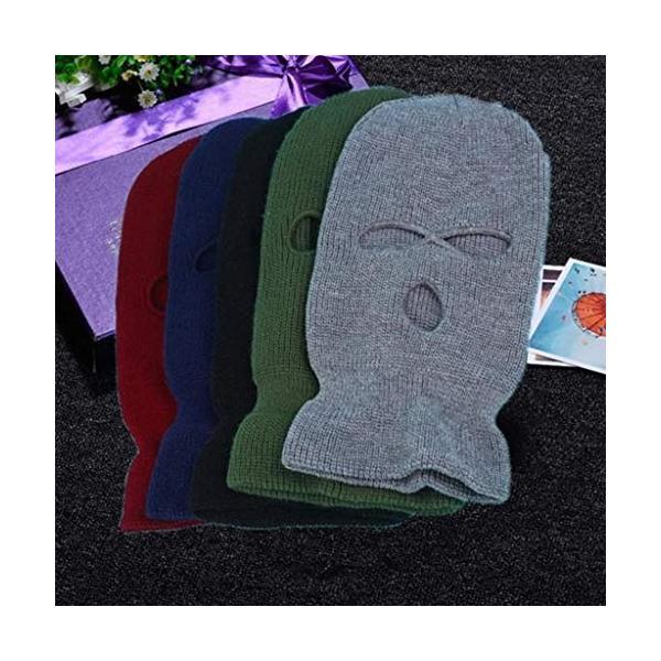 帽子を実行しているスキー防風ニット冬暖かいフードアウトドアスポーツ乗馬 利用可能なさまざまな色マスク Color B : NEW 超目玉