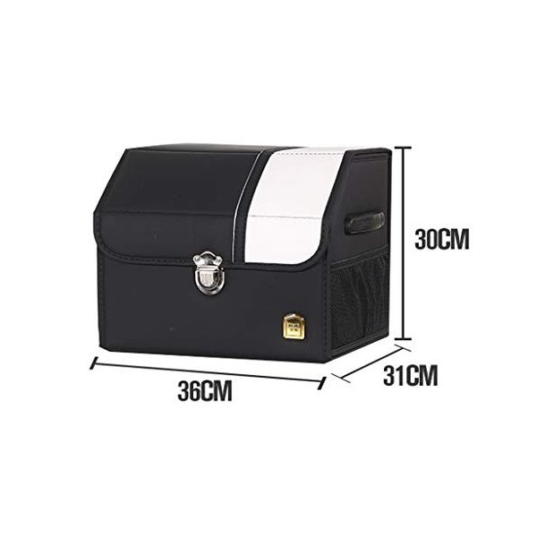 XXT オンラインショッピング 車の収納ボックス車のトランク収納ボックス多機能折りたたみ収納ボックス 実用的 Color Size Black-B, 本物 L36cm :