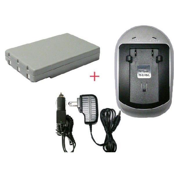 充電器セット コニカミノルタ(KONICA MINOLTA) NP-600 互換バッテリー + 充電器 (AC)