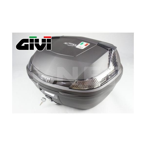 セール特価GIVIジビリアボックスバイク用ボックスモノロックケースB47NTMLDTECH未塗装ブラック(黒)76885