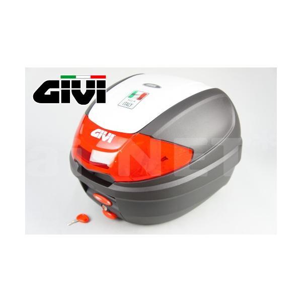 在庫有GIVIジビリアボックスバイク用ボックスモノロックケースE300N2B912パールホワイト(白)76880
