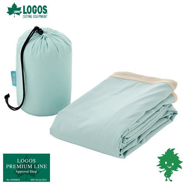 在庫有 LOGOS/ロゴス 抗菌防臭 セルフインフレートマットカバー・DUO(ブルー) 72884188 コットカバー キャンプ アウトドア BBQ フィッシング
