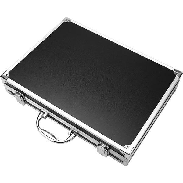 マグネットローダー専用 アタッシュケース 防水性 耐火性 トレーディングカード 12枚収納(ブラック)