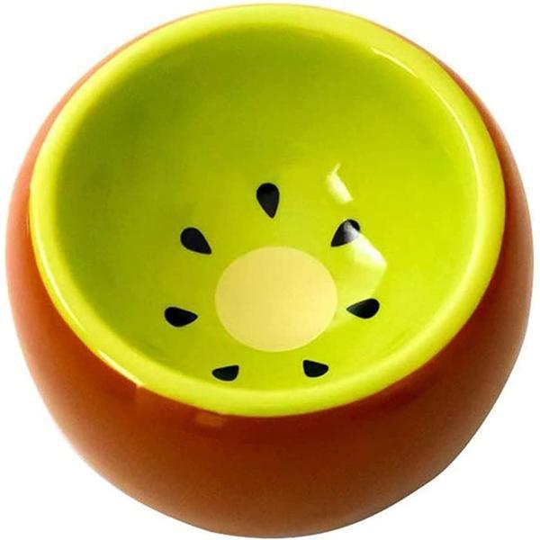 ハムスター用食器 ハリネズミ食器 小動物 陶器 皿 餌入れ(キウイ)