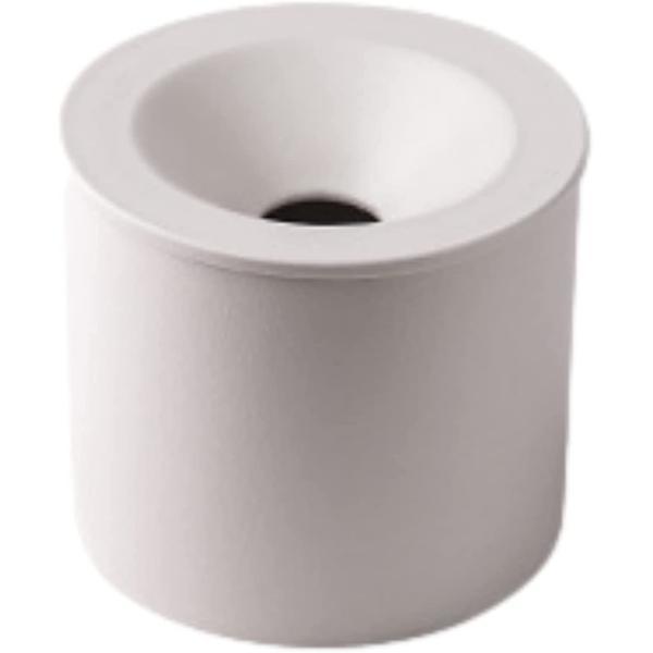 灰皿 蓋付き ふた付き 屋外 卓上 インテリア セラミック 大容量 陶器(白)