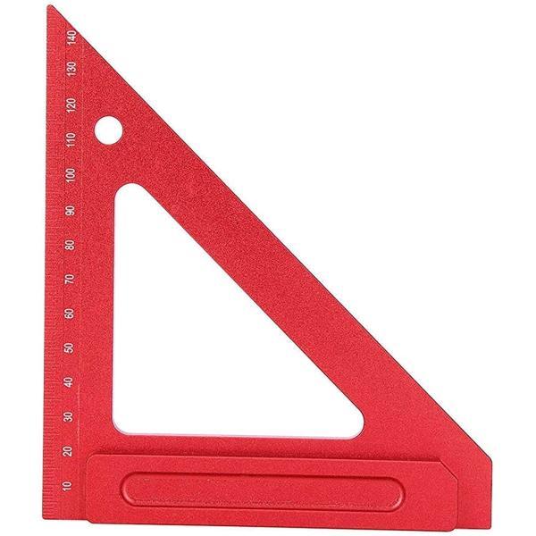 木工三角定規 スコヤ 直角定規 大工 測定 45度 ケガキ 工具 アルミ製