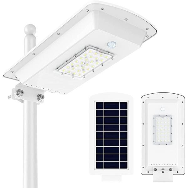 LED街灯 ソーラーライト 街路灯 15W 2000lm センサーライト 夜間自動点灯 人感センサー IP65防水 耐水性(T-15W)