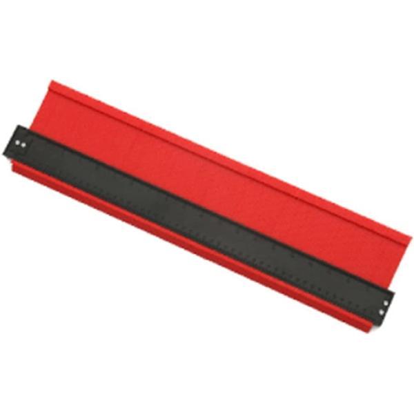 型取りゲージ コンターゲージ 測定ゲージ 不規則な測定器 輪郭ゲージ 曲線定規 DIY用測定工具 角度測定 赤(幅広500mm(赤))