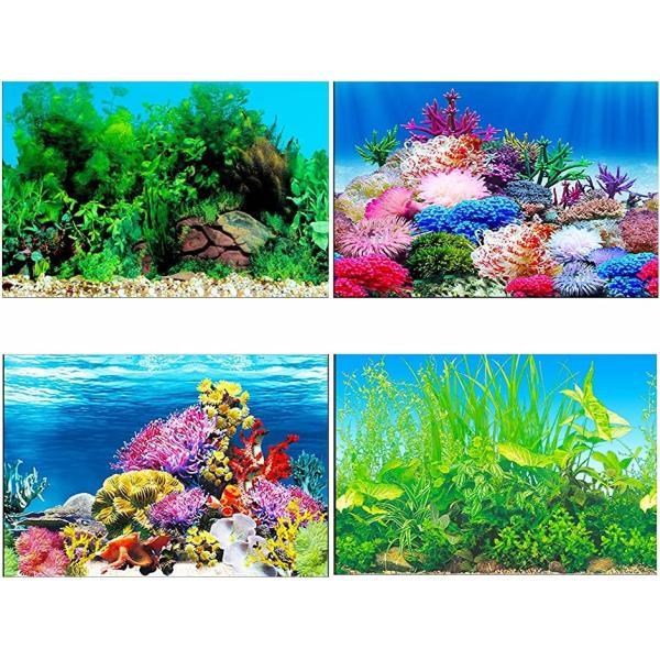 アクアリウム 水槽 魚タンク バックスクリーン 背景 水族館 水中 ポスター 装飾 外観 バックグラウンド MDM(50x82cm)