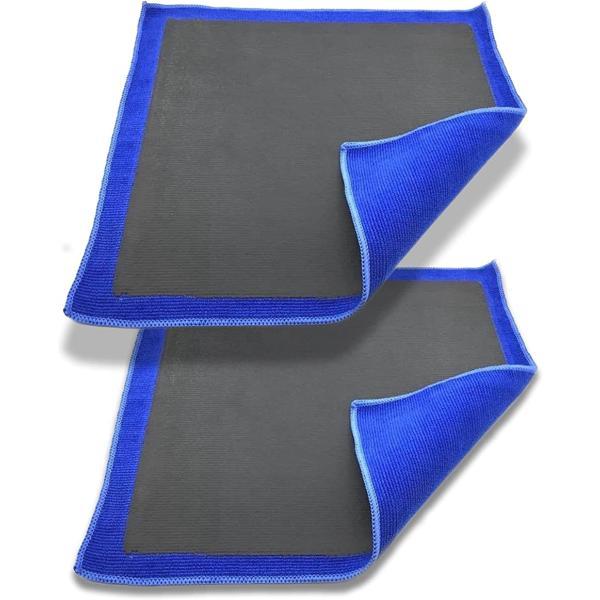 h&b 洗車 用 鉄粉除去 クレイ タオル 手軽にピカッと ツルツル 粘土 配合 クロス マイクロファイバー ラバークロス 28cm 2枚