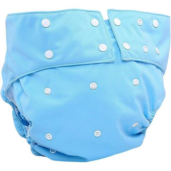 エスポワール エース 大人用 おむつカバー 老人 介護 失禁 パンツ(スナップボタンブルー)