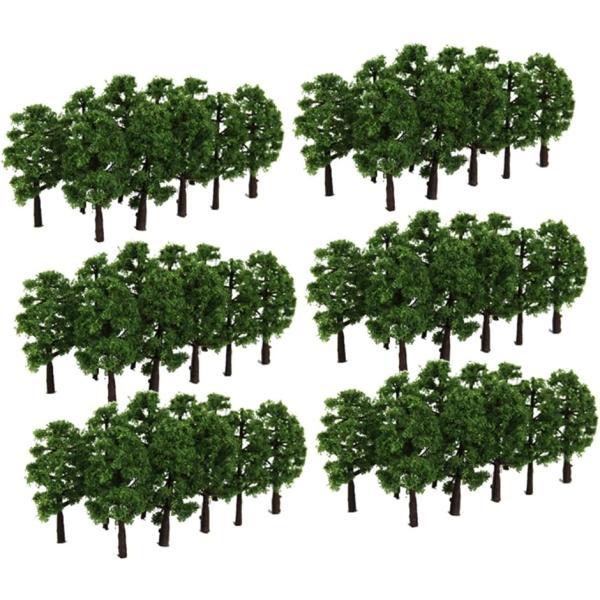 ジオラマ風景木60本セットNゲージHOゲージ鉄道模型建築模型プラモデルミニチュア樹木3.5cm深緑