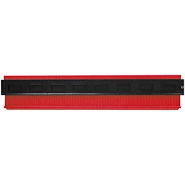 型取りゲージ コンターゲージ 測定ゲージ 不規則な測定器 輪郭ゲージ 曲線定規 DIY用測定工具 角度測定 多機能(500mm(赤))