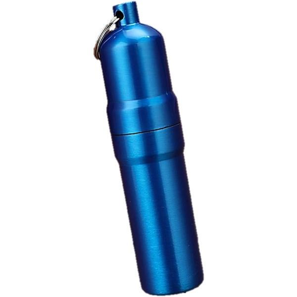 携帯 タバコケース ピルケース 防水ケース 薬ケース マッチ シガレットケース キーホルダー アルミ 02(02 ブルー, 5本仕様)