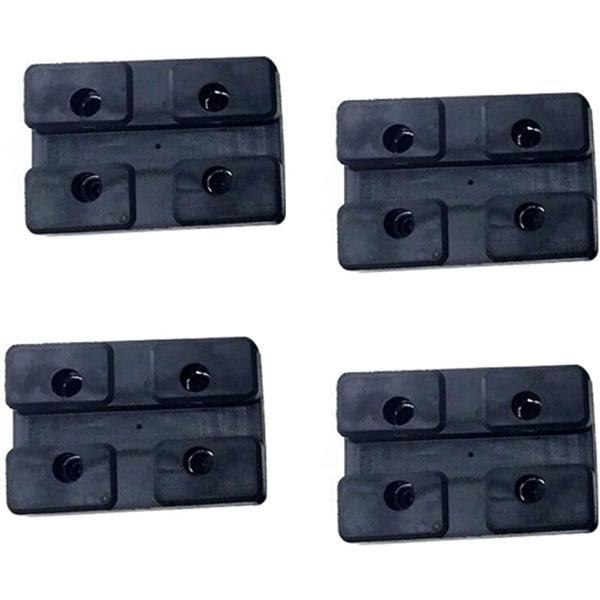 ジャッキスタンド 用 ゴムパッド 4個入 アップ ラバークッション 方形 汎用(ブラック4個)