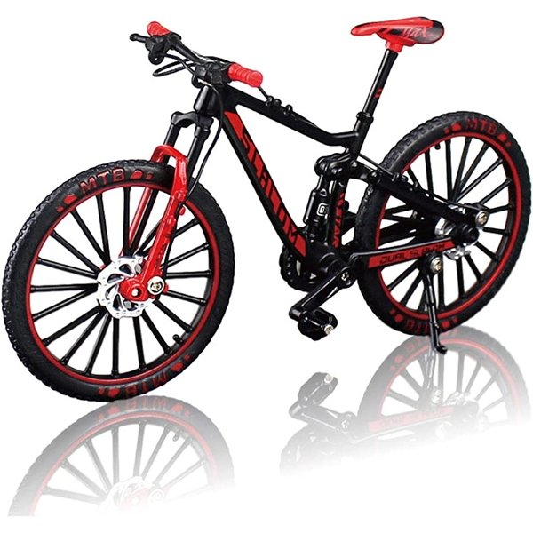 morytrade 自転車 おもちゃ MTB マウンテンバイク 模型 ダイキャスト 1/10(ブラック/レッド)