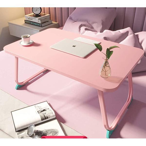 折り畳みテーブルローテーブルラップトップテーブルアウトドアテーブル座卓折りたたみ大容量表面(ピンク,60x40x28cm)